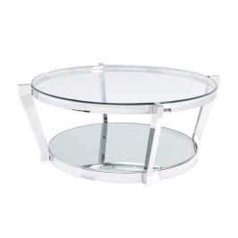 Zilveren salontafel rond