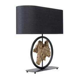 Zwarte tafellamp drijfhout