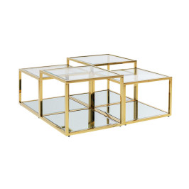 Gouden design salontafelset