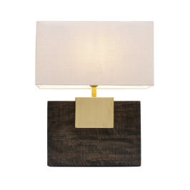 Tafellamp donker hout en goud