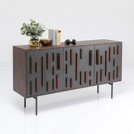 Design dressoir donker mangohout