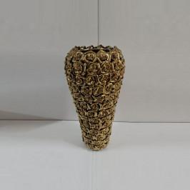 Gouden vaas met rozen