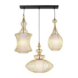 Retro hanglamp goud