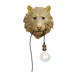 Gouden tijger wandlamp