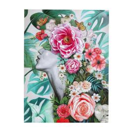 Jungle bloemen schilderij