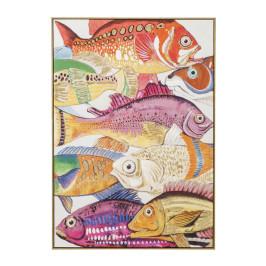 Wanddecoratie kleurrijke vissen One