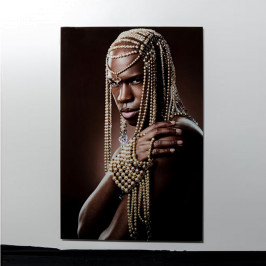 Glas schilderij portret 100x150
