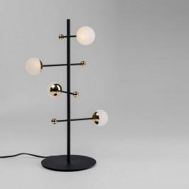 Design tafellamp zwart en messing