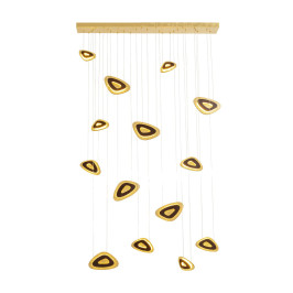 Grote design hanglamp goud