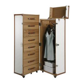 Garderobekast koffer wit