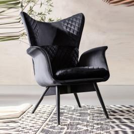 Fluwelen oor-fauteuil