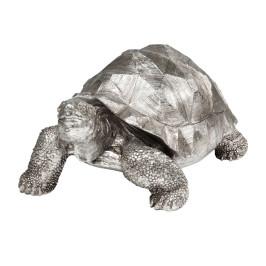 Zilveren deco schildpad