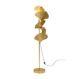 Gouden vloerlamp ginkgo