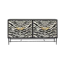 Zwart design dressoir zebra