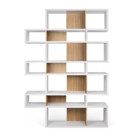 Witte design boekenkast 220 cm
