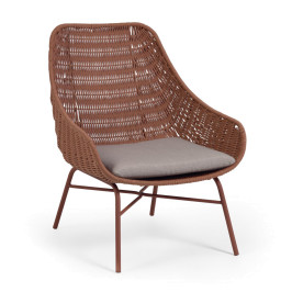 Tuin lounge stoel van touw