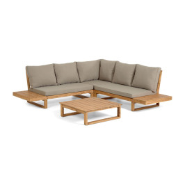 Moderne loungeset acaciahout
