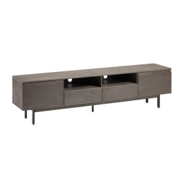TV-meubel grijs acaciahout