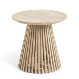 Ronde bijzettafel van hout