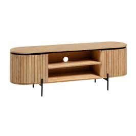 Ovaal tv-meubel van mangohout