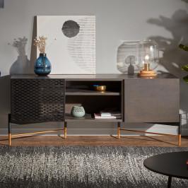 Zwart essenhouten tv-meubel