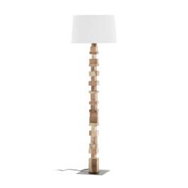 Vloerlamp met houten blokjes