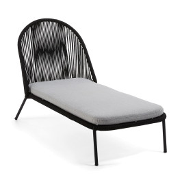 Zwarte ligstoel voor buiten