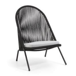 Zwarte loungestoel voor buiten