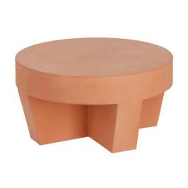 Terracotta salontafel rond