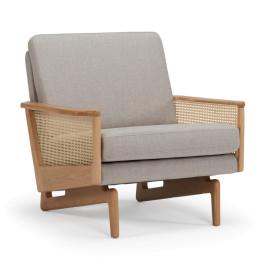 Scandinavische fauteuil met webbing armleuningen