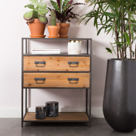 Ladenkast metaal en hout