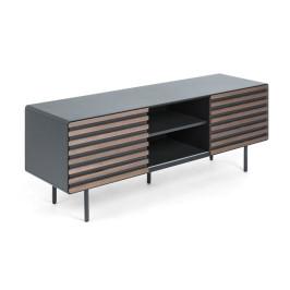 Mat grijs TV-meubel met walnoot