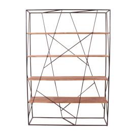 Industriele roomdivider met 4 planken