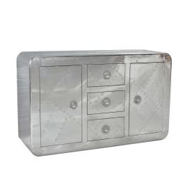 Zilveren dressoir van aluminium