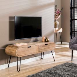 Mango hout tv-meubel met ronde hoeken