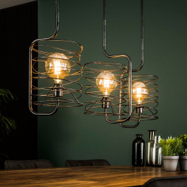Metalen hanglamp industrieel design