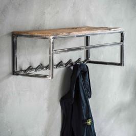 Metalen wandkapstok met plank en roede