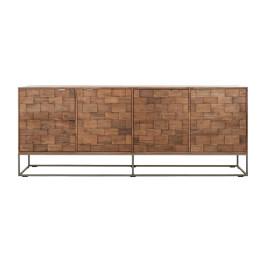 Houten dressoir mozaiek 210 cm