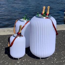 Wijnkoeler met luidspreker en LED