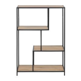 Open boekenkast met metalen frame
