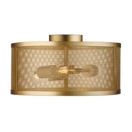 Plafondlamp goud metaal gaas