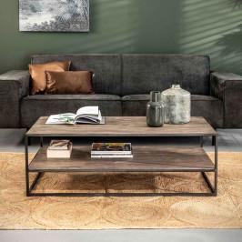 Rechthoekige salontafel van grijs hout