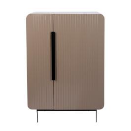 Retro design wandkast taupe