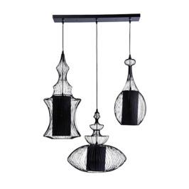 Retro hanglamp zwart 3