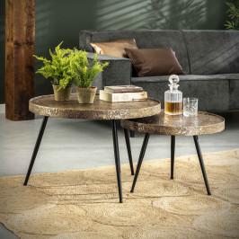 Ronde salontafelset bronskleurig