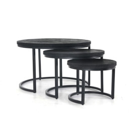 Ronde salontafelset zwart