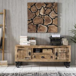 Rustiek tv-meubel van mangohout