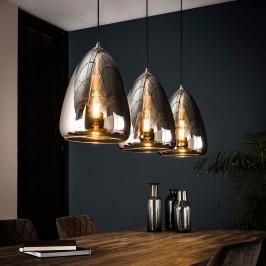 Spiegelende hanglamp glas