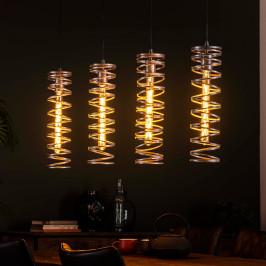 Spiraalvormige hanglamp zilver