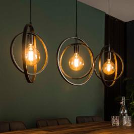 Stoere eettafel hanglamp met cirkels